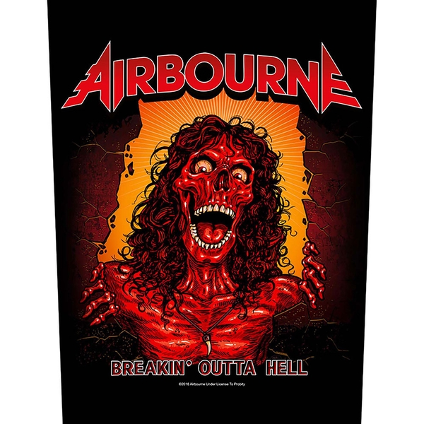 Airbourne - Breakin' Outa Hell Back Patch