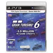 Gran Turismo 6 (GT6) PSN Card For 2.5 Million Credits PS3