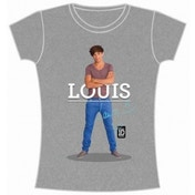 One Direction Louis Standing Pose Skinny Grey TS: Large