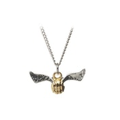 Harry Potter Golden Snitch Metal Pendant Necklace -  Gold/Silver