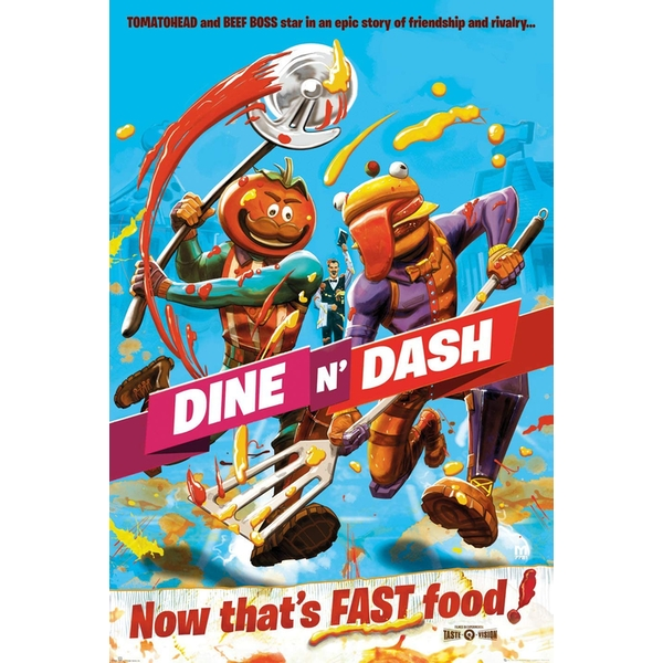 Fortnite Dine And Dash Poster