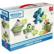 Disney Pixar Monsters University 4 in 1 Shaped Jigsaw Puzzles