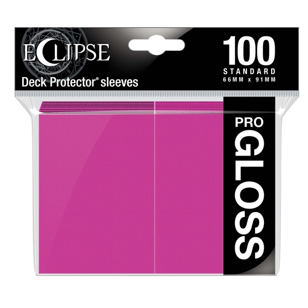 Ultra Pro Eclipse Hot Pink Gloss Standard Sleeves - 100 Sleeves