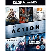 The Action Collection The Huntsman Winters War / Warcraft The Beginning / Lucy / Everest / Battleship 4K UHD Blu-ray
