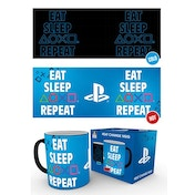 Playstation Eat Sleep Repeat Heat Change Mug