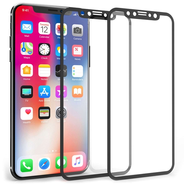 Compare prices with Phone Retailers Comaprison to buy a Apple iPhone X HD Soft Edge Glass Screen Protector (Twin Pack) - Black Edge
