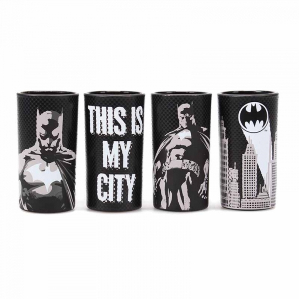 Batman - Batman Poses Set Of 4 Shot Glasses