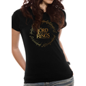 Lord Of The Rings - Gold Foil Logo Women