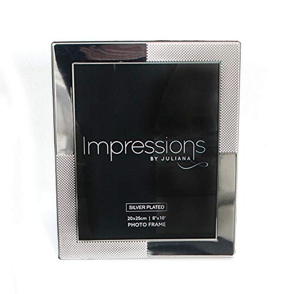 """6"""" x 8"""" Impressions Silver Plated Frame with Spotted Corner"""