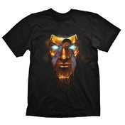 BORDERLANDS Men's Handsome Jack Golden Mask T-Shirt, Small, Black