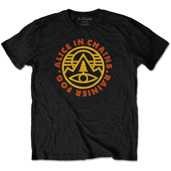 Alice in Chains - Pine Emblem Unisex Small T-Shirt - Black
