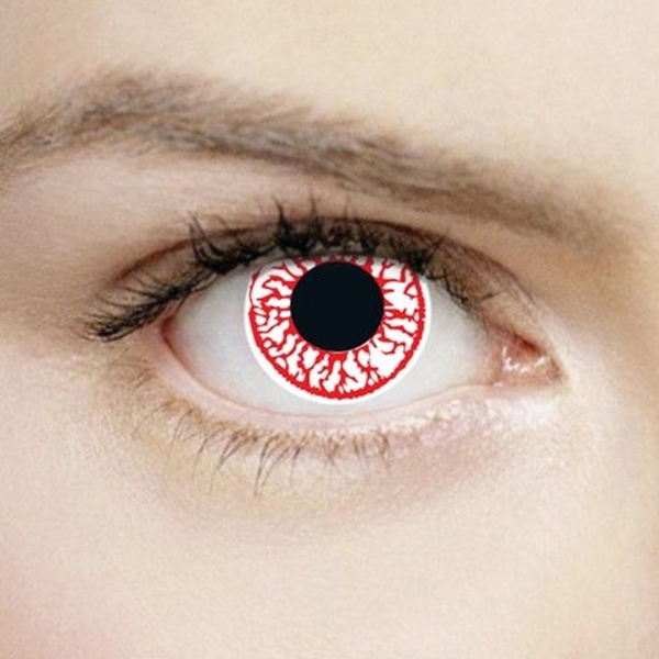 Crackhead 1 Day Halloween Coloured Contact Lenses (MesmerEyez XtremeEyez)