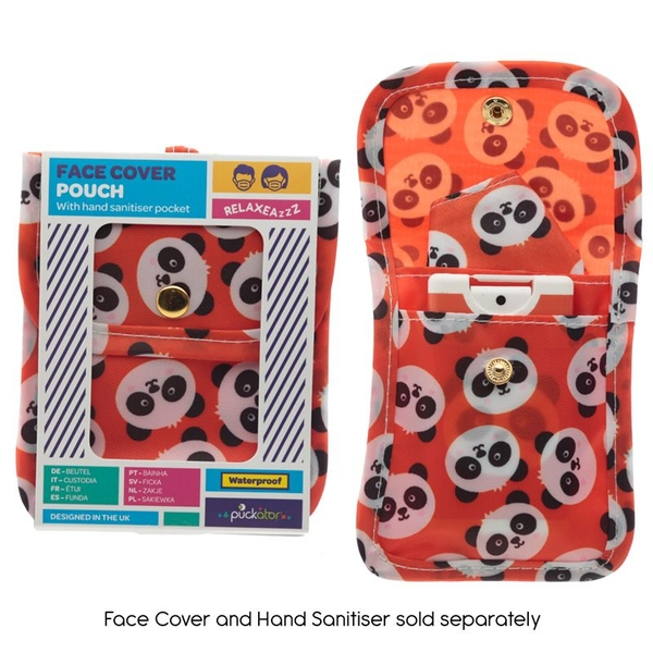 Cutiemals Panda Face Covering & Hand Sanitiser Pouch