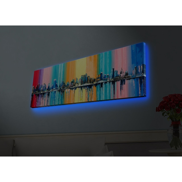 3090HDACT-004 Multicolor Decorative Led Lighted Canvas Painting