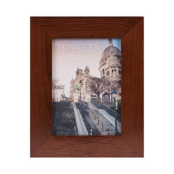 "5"" x 7"" - Impressions Flat Edge Rosewood Finish Photo Frame"