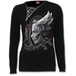 Dark Fusion Women's Small 2 In 1 Slant Zip Neck Lace  Long Sleeve Top - Black - Image 2