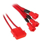 BitFenix Alchemy Molex to 3x 3-Pin 7V Adapter 20cm - sleeved red/red