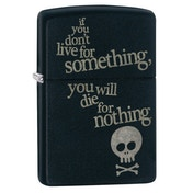 Zippo Live for Something Black Matte Regular Lighter