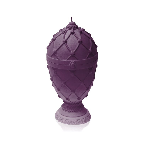 Violet Faberge Egg Large Candle