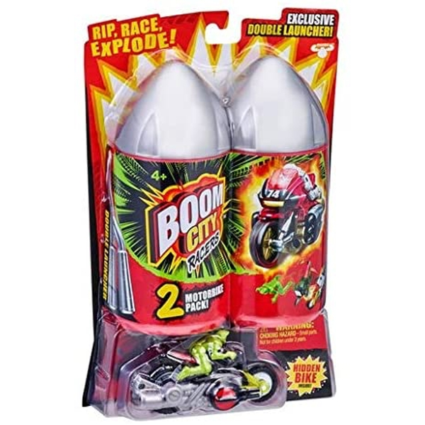 Boom City Racers Exploding Motorbike Toy