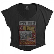 The Beatles Live in Liverpool Ladies Black T-Shirt Large