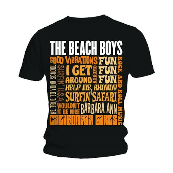 The Beach Boys - Best of SS Unisex Small T-Shirt - Black