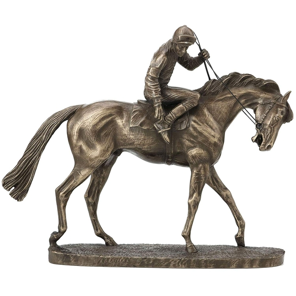 Horse Racing On Parade by David Geenty Cold Cast Bronze Sculpture 18cm