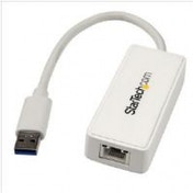 StarTech USB 3.0 to Gigabit Ethernet Adapter NIC with USB Port - White