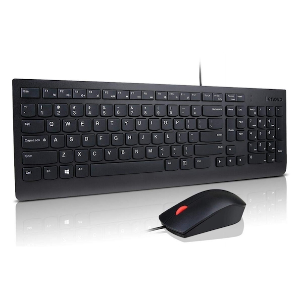 Lenovo Essential Wired Keybaord and Mouse Combo - UK Layout