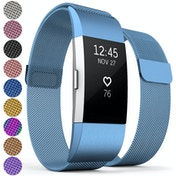 Proworks Milanese Metal Strap - Blue compatible with FitBit Charge 2