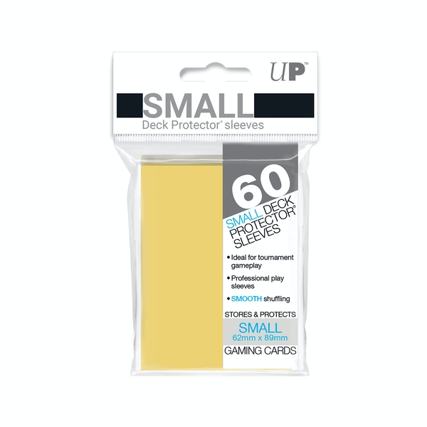 Ultra Pro Yellow Small Deck Protectors - 60 Sleeves