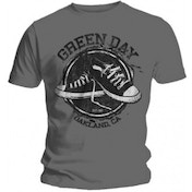 Green Day Converse Mens Grey T Shirt: X Large