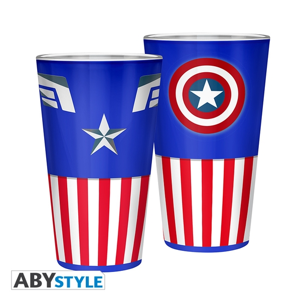 Marvel - Captain America Large Glass