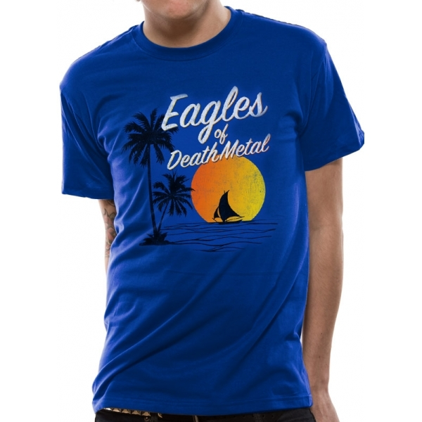 Eagles Of Death Metal - Sun Logo Unisex Medium T-Shirt - Blue