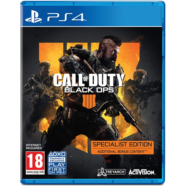 Call Of Duty Black Ops 4 Specialist Edition Game PS4