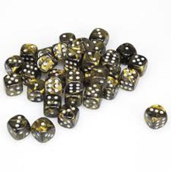 Chessex 12mm d6 Dice Block: Leaf Black Gold/silver