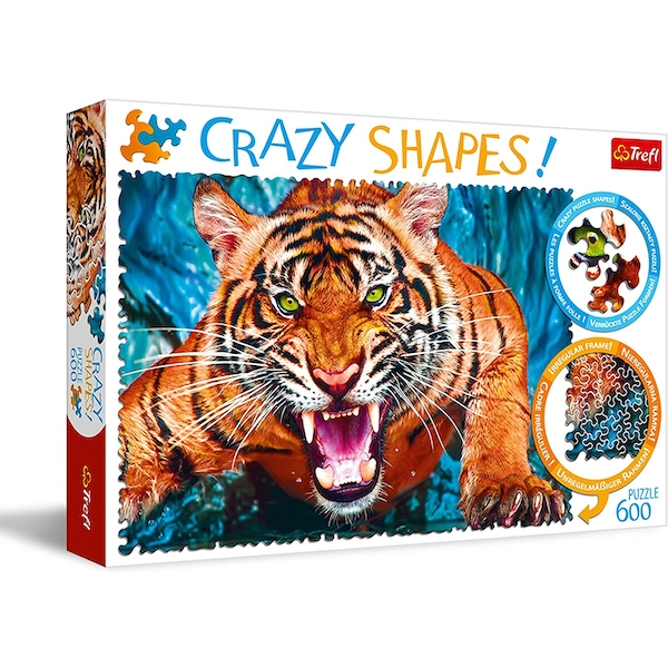 Facing A Tiger Jigsaw Puzzle - 600 Pieces
