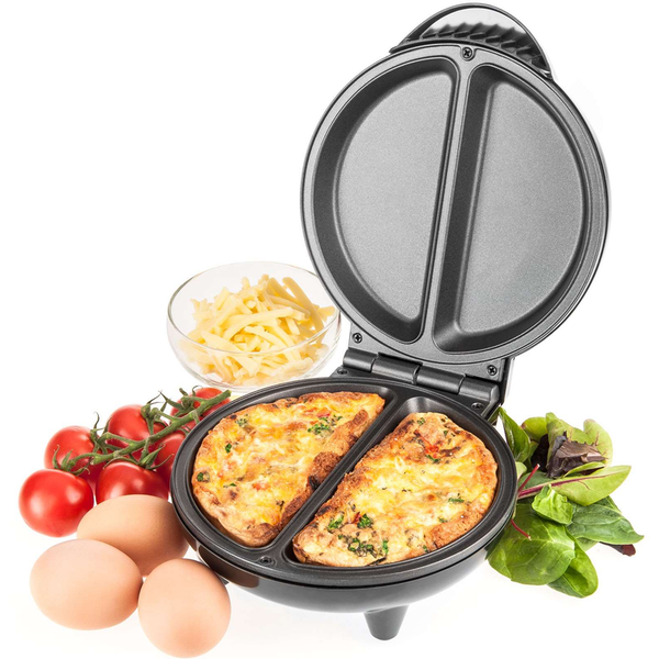 Savisto Electric Omelette Maker - Black UK Plug - Image 1