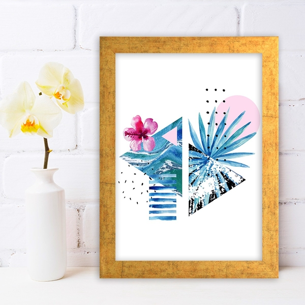 AC636697120 Multicolor Decorative Framed MDF Painting