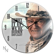 John Wayne Glass Clock