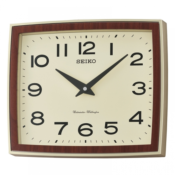 Seiko QXD211S Westminster/Whittington Dual Chime Wall Clock Brown Case