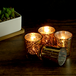 Set of 12 Speckled Tealight Candle Holders | M&W Gold - Image 4