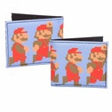 Nintendo Super Mario Bros. Pixelated Running and Jumping Mario Bi-fold Wallet