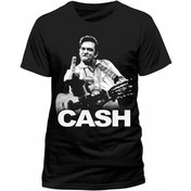 Johnny Cash Finger Men's T-Shirt XXXX-Large - Black