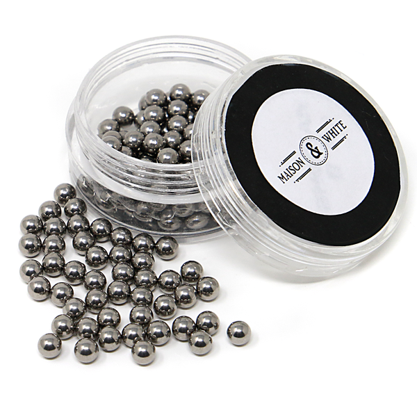 Glass Decanter Stainless Steel Cleaning Balls   M&W