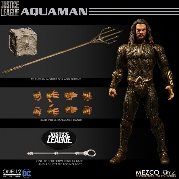 Aquaman (Justice League) Mezco One:12 Collective Action Figure - Image 1