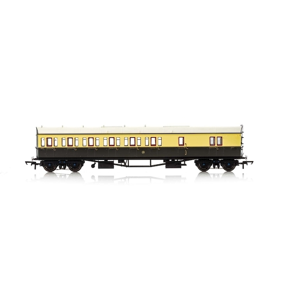 Hornby GWR Collett 57' Bow Ended 4971 D98 Six Compartment Brake Third (Left Hand) Era 3 Model Train