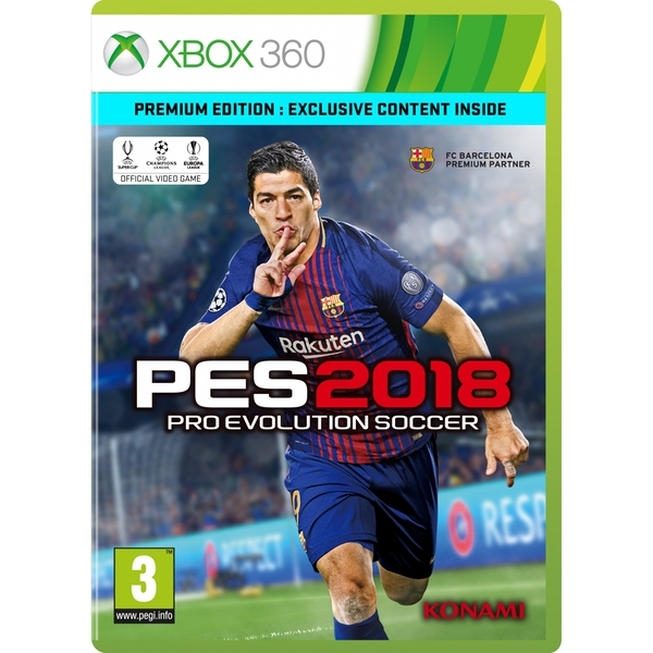 Pro Evolution Soccer 2018 Premium Edition Xbox 360 Game
