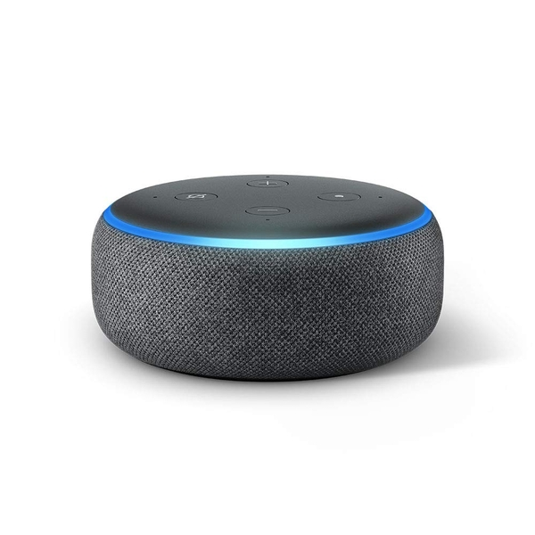 Echo Dot (3rd Gen) - Smart speaker with Alexa - Charcoal Fabric UK Plug