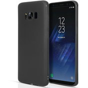 Samsung Galaxy S8 Matte Silicone Gel Case - Black